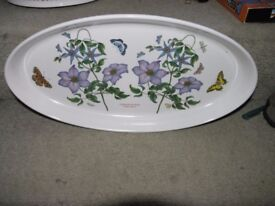 Portmeirion Large Elongated Oval Serving Dish Clematis Weymouth