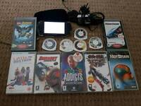 sony psp with games and charger