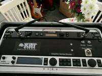 Guitar wireless, multi effects, power strip, midi controller and rack case