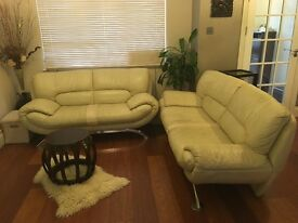 2 seater or 3 seater Ivory leather sofa