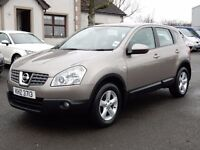 2008 nissan qashqai 1.5 dci only 66000 miles, full history, motd dec 2017 1 owner from new