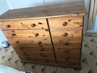 Pine 6 & 6 Chest of Drawers