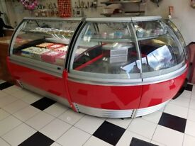 2 Commercial Display Fridges Serve Over Counter Bakery Butcher Sandwich shop Dessert patisserie