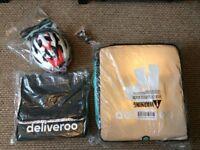 Deliveroo Kit - Backpack, Thermal Bag, Helmet and Lights (Never used)