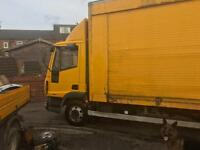 19 ft box body with large roller shutter can deliver