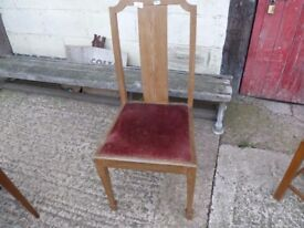 Straight Backed Single dining Chair Delivery Available