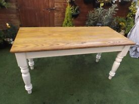 Vintage Narrow Farmhouse Pine? Kitchen Table - 60 inches long - 26 & a Half inches wide