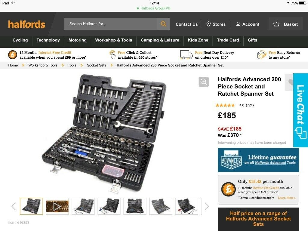 e642b5628 Halfords advanced 200 piece socket spanner set. | in Paisley ...