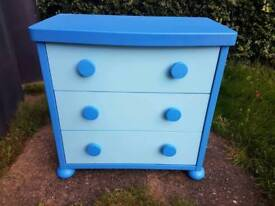 Blue ikea chest of drawers. Perfect for kids bedroom