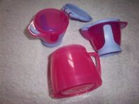 Pink Steady Cup & 2 Weaning Pots with lids IP1