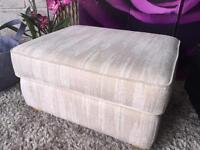 Furniture Village G Plan Storage Footstool Natural Fabric