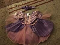 Baby rapunzel dress and head band