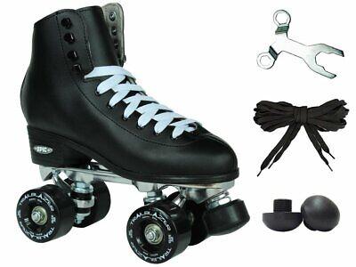 New Black Epic Classic Elite Outdoor High-Top Quad Roller Skates  Black Roller Skate Men