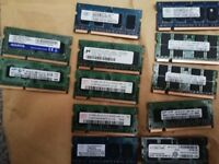 various ddr2 and ddr3 laptop ram
