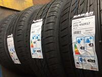 225/45/17 94Y XL BRAND NEW TYRE RADAR