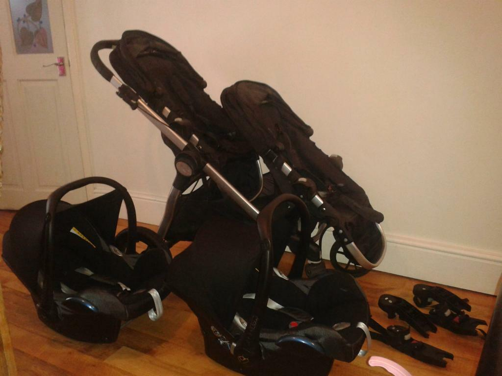 Baby Jogger City Select Tandem Pushchair With 2 Maxi Cosi