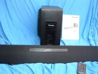 Panasonic Home theatre system with separate subwoofer optical connection Remote control Blutooth