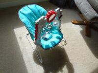 Fisher Price 2 in 1 baby bouncer with lights, music, vibration