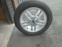 Ford Focus alloy wheel & tyre in excellent condition inside & out.