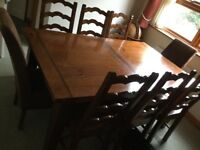 Large Dining Table and 8 Chairs - REDUCED