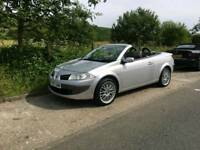 Renault megan convertible with low miles and long mot
