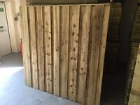 Under & over fence panels pressure treated green