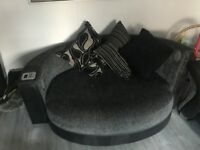 Large grey cuddle chair