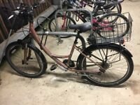 Globe vintage bike- fantastic condition- fixed rear light fitted, bell and two sturdy baskets