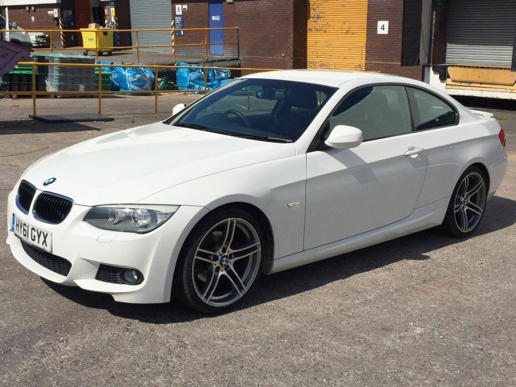 BMW 3 Series 2.0 320d M Sport 2dr Coupe Diesel Leather White Manual ...