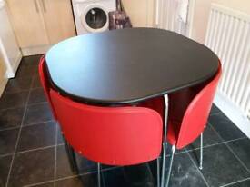 Compact kitchen dining table set with 4 chairs