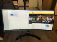 LG 34 inch, curved, 3440 x 1440 display