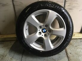 ALLOYS X 4 OF 17 INCH GENUINE BMW 5 SERIES 525 IN VERY GOOD CONDITION WITH MICHELLIN TYRES FITTED
