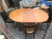 Table x4 chairs real wood