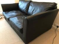 Large leather 2 seater sofa.