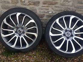 "22""Original Range Rover ALLOY WHEELS &Used Tyres, fits RANGE ROVER, SPORT, DISCO, L405"