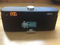 Gear4 HouseParty Rise 2 Wireless Speaker Dock Radio For iPhone 4S, iPad 3, iPod 4th Gen+Power Supply