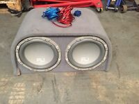 FLI 2000 Watts subwoofer and leads ready to conect