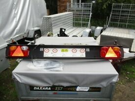 AS NEW... 4FT-6IN HEAVY DUTY PLASTIC TRAILER LIGHT BOARD UNIT...........
