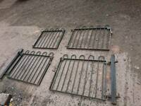 A set of 4 wrought iron gates