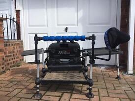 Preston x3s seat box Plus mega accessories pack! Match fishing!