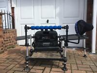 Preston x3s seat box Plus mega accessories pack! Match fishing!