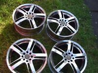 BSA Alloy Wheels Set of 4 17""