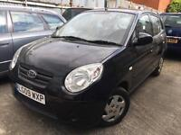 2009 KIA PICANTO 1.0 12v YEARS MOT BLACK 5 DOORS
