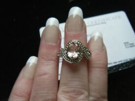 Galileia Topaz Silver Ring