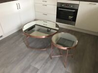Copper coffee table and side table