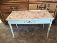 Retro vintage Upcycled table shabby chic