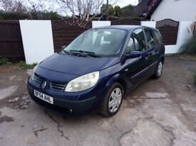 54 Plate Renault Grand Scenic 7 Seater. MOT August 18. Drives well Just £395. PX Welcome.