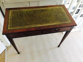 Leather-top writing desk