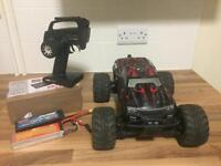 Rc remote control car. Savage xs brushless truck 65 mph
