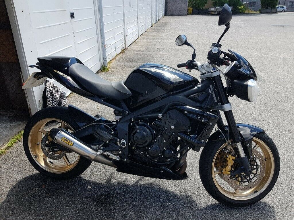 2012 Triumph Street Triple R 675 Arrow Exhaust Nice Extras Low